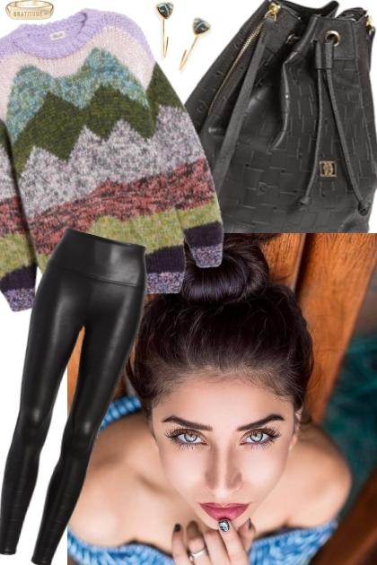 LONG SWEATER WITH LEGGINGS.;.;.;.;..;