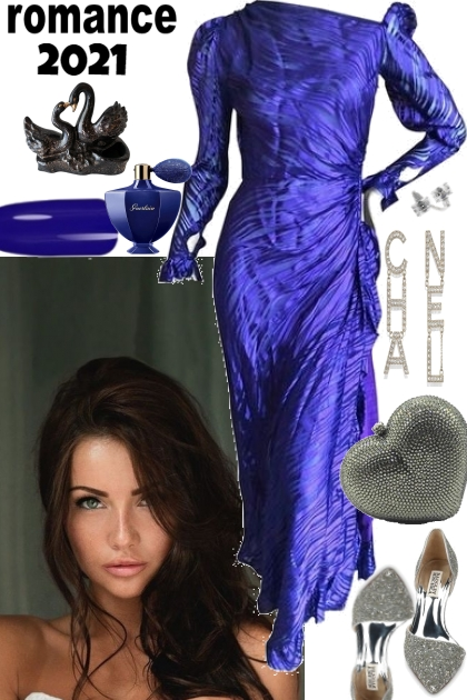 ROMANTIC BLUE AND SILVER