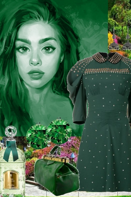 DRESSED IN GREEN '/.;[-