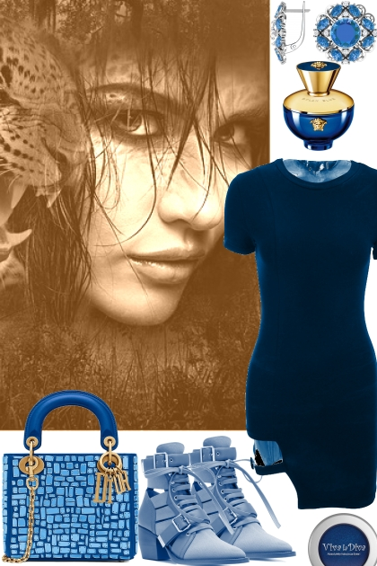 CASUAL BLUE DRESS 91921