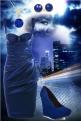 Dark blue city