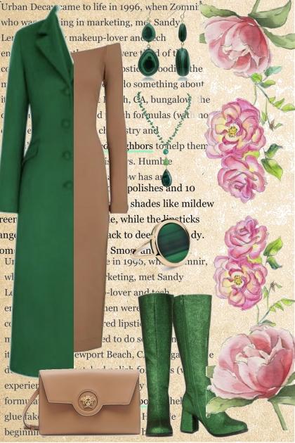 Walking in green boots