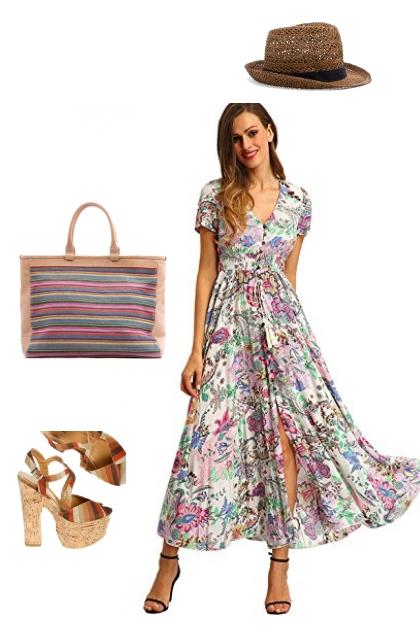 Summer maxi-dress