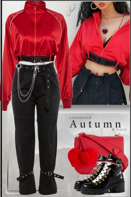 casual red&Black
