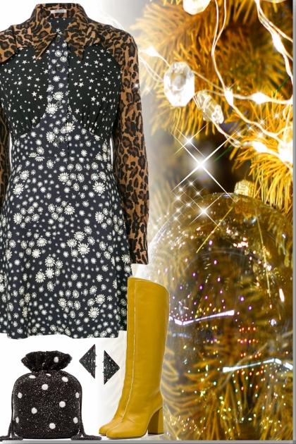 shiny Shirt Dress