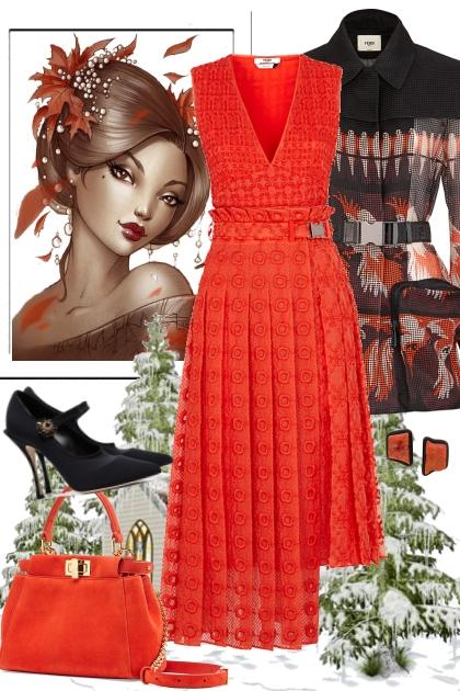 Orange dresse