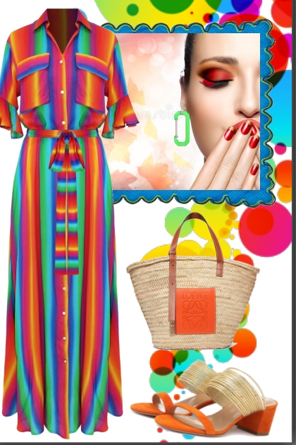 Striped Voile  Dress
