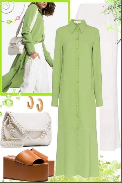 Green  shirtdress