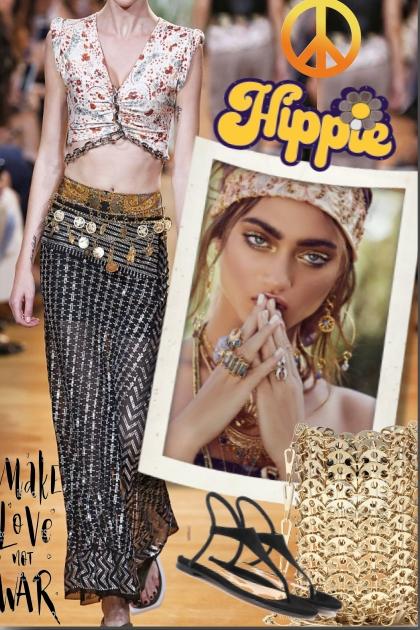 Hippie de luxe - combinação de moda