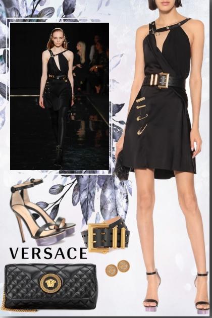 VERSACE satin mini dress