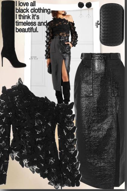 Black clothing- Fashion set