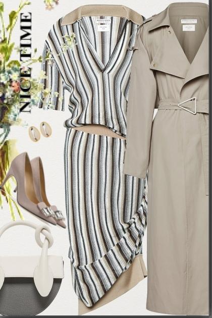 Polo Dress in striped