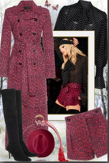 Leopard Print Suede Coat
