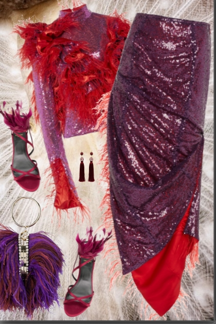 Red and Purple feathers