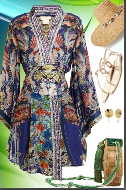 kimono wrap dress- Fashion set