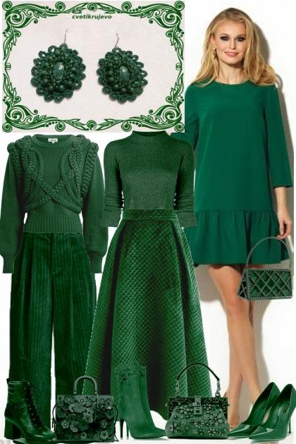 Серьги. Королева. Зелёный