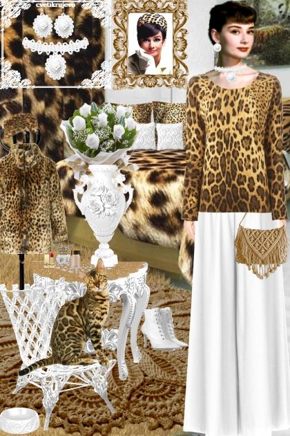 Набор. Камея. Белый Леопард2 интерьер- Fashion set
