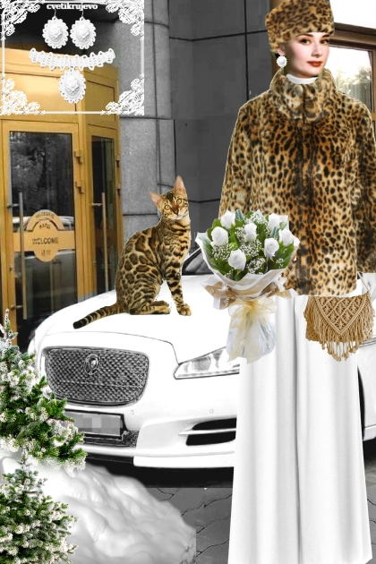 Набор. Камея. Белый. Леопард. _Пейзаж 2- Fashion set