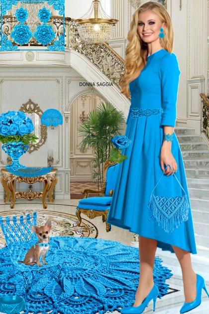 Серьги. Принцесса. Голубой. Интерьер 22