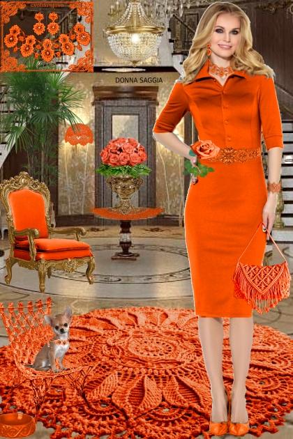 Набор. Милен. Оранжевый. Интерьер 233
