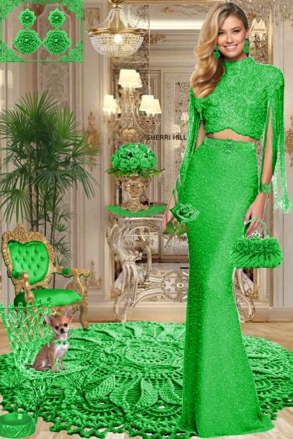 Серьги. Принцесса. Зелёный 888