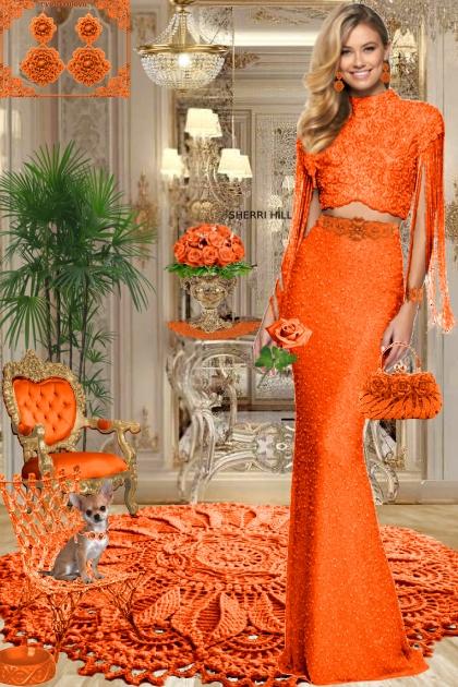 Серьги. Принцесса. Оранжевый 888