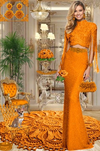 Серьги. Принцесса. Оранжевый 2888