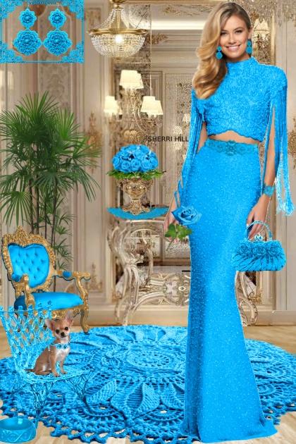 Серьги. Принцесса. Голубой 888