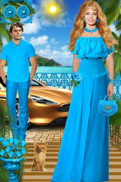 Серьги. Фриформ голубой. Лето0002
