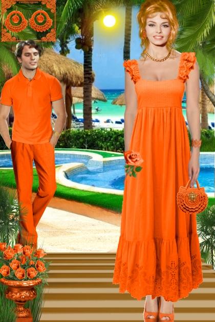 Серьги. Кармен. Оранжевый. Лето0002
