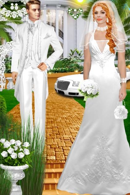 Набор. Милен. Белый. Свадьба 0016. День