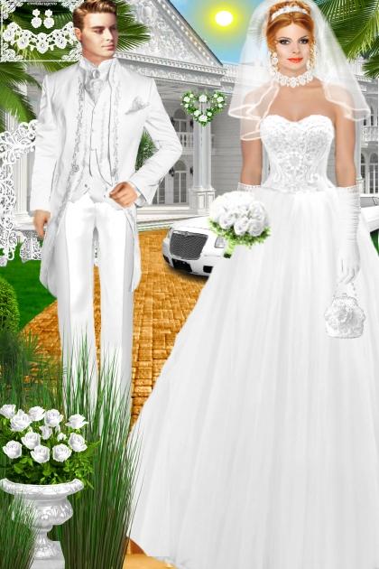 Набор. Милен. Белый. Свадьба 002 600 день