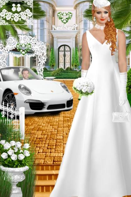 Набор. Милен. Белый. Свадьба. Авто001100