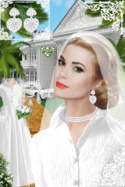 Серьги. Принцесса. Белый. Свадьба 22