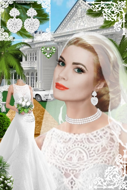 Серьги. Принцесса. Белый. Свадьба 3333