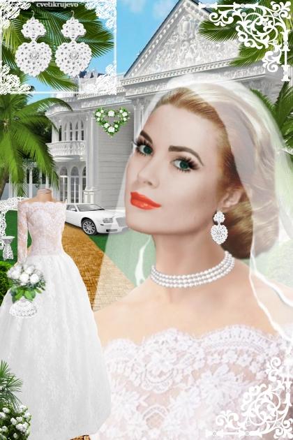 Серьги. Принцесса. Белый. Свадьба 44