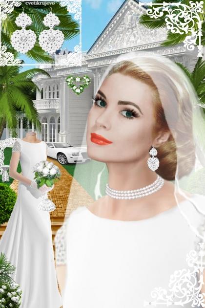Серьги. Принцесса белый. Свадьба 404