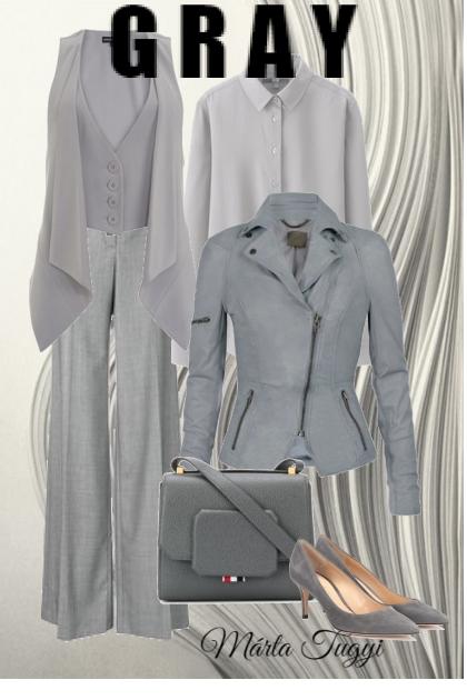 In gray