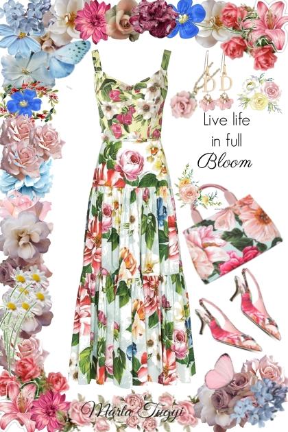 Among flowers- combinação de moda