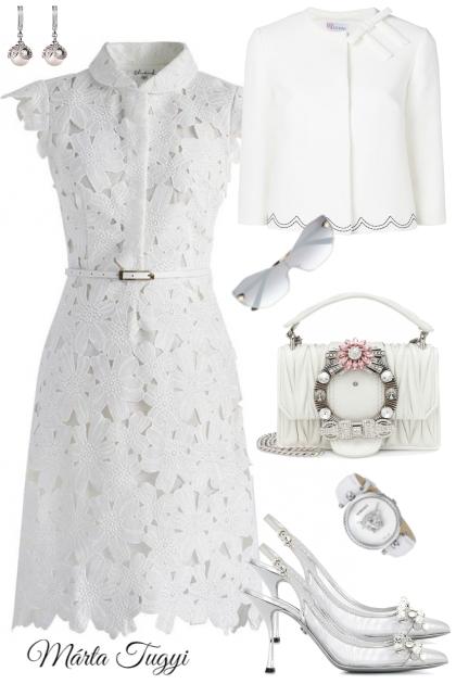 ...in white....