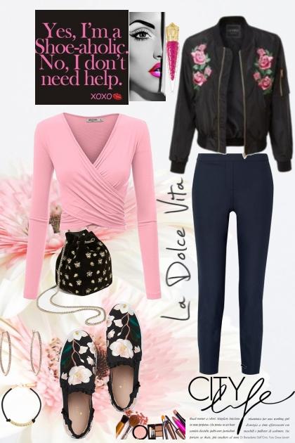 La Dolce Vita in Black and Pink