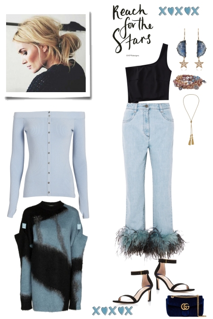 Denim Blues...Fancy Feathers
