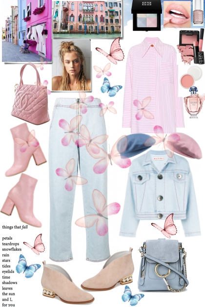 Denim Blues and Pink Pastels