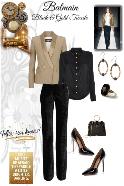 Black and Gold Tuxedo