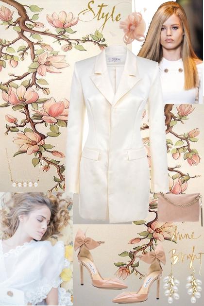 The White Tuxedo Dress