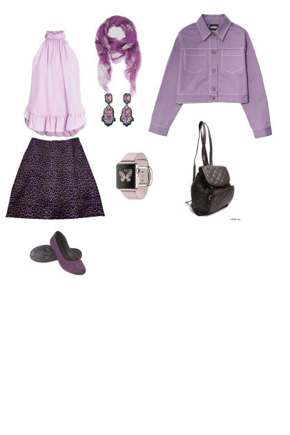 монохром фиолетовый