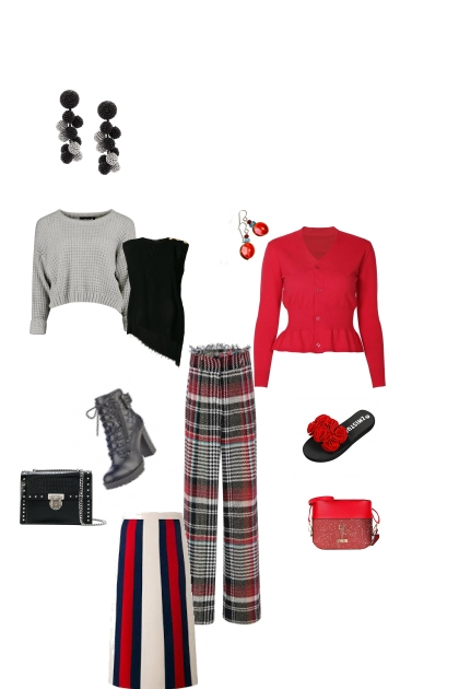Sharp black and red mix and match