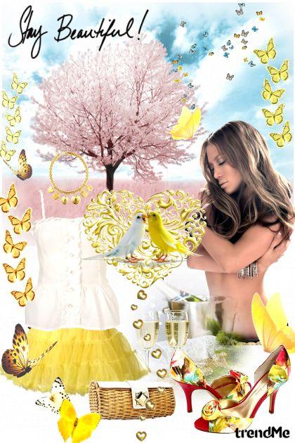 春の桜の木の下で・・・