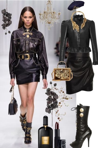 j - 187 - leather&gold