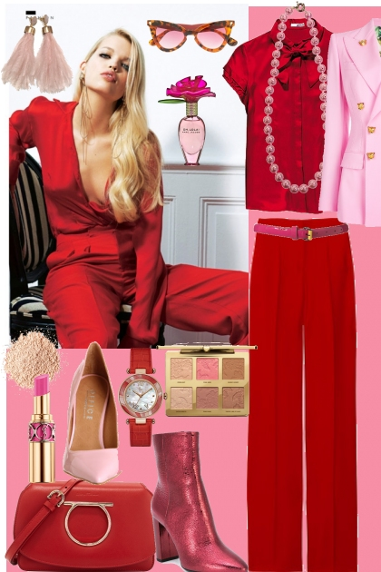j - 284 - pink&red